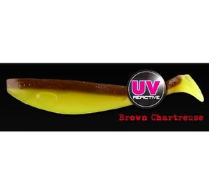 Fox Rage Pro Shad Brown Chartreuse